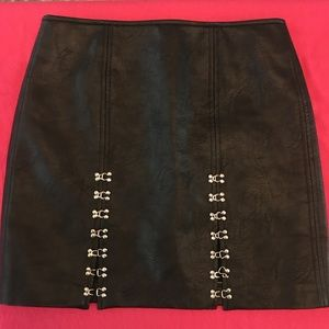 Blank NYC vegan leather skirt